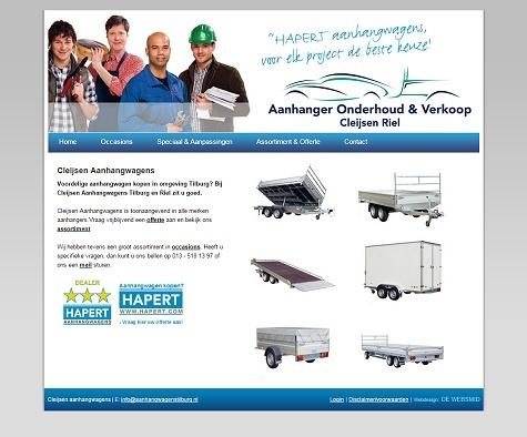 Website voorbeeld Aanhangwagenbedrijf