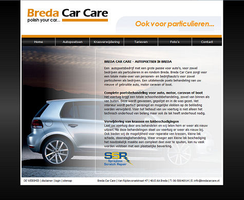 Voorbeeld budget website