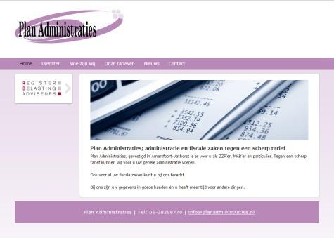 Website voorbeeld Administratiekantoor