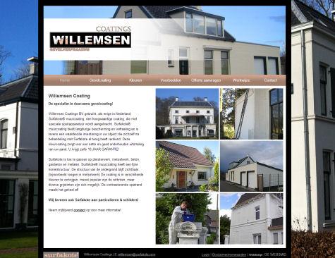 Voorbeeld website Schilder