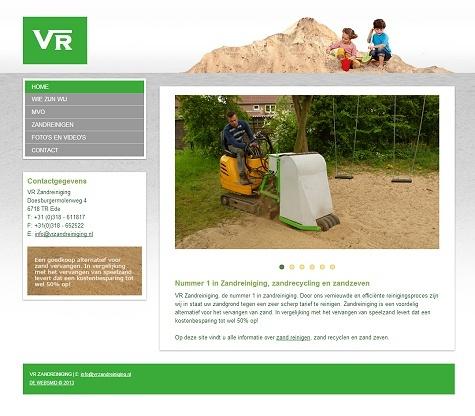 Voorbeeld budgetwebsite