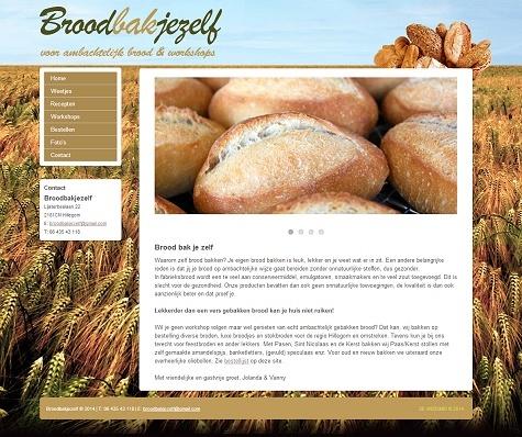 Website voorbeeld brood bakker