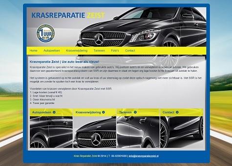 Website voorbeeld Autopoetsbedrijf