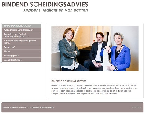 Website voorbeeld Mediation
